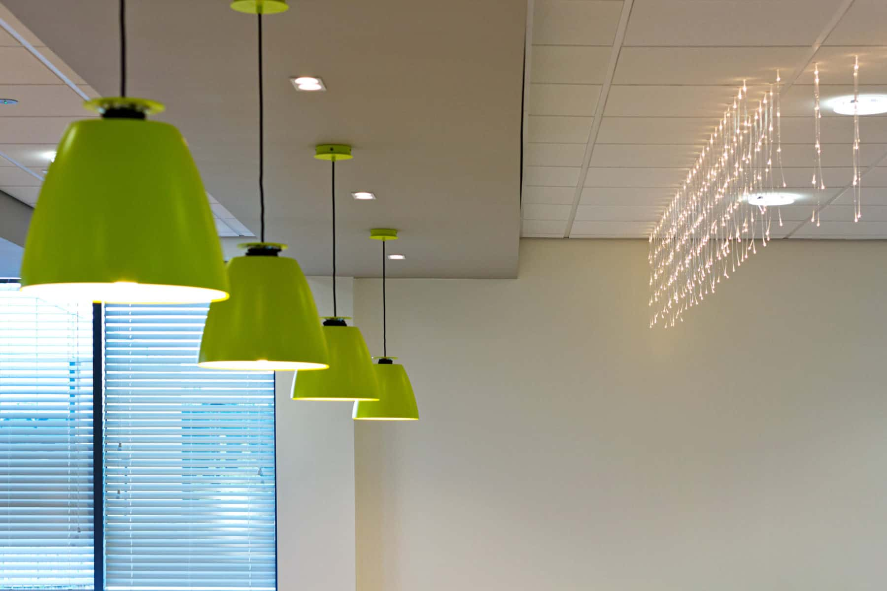 lime coloured pendant lighting