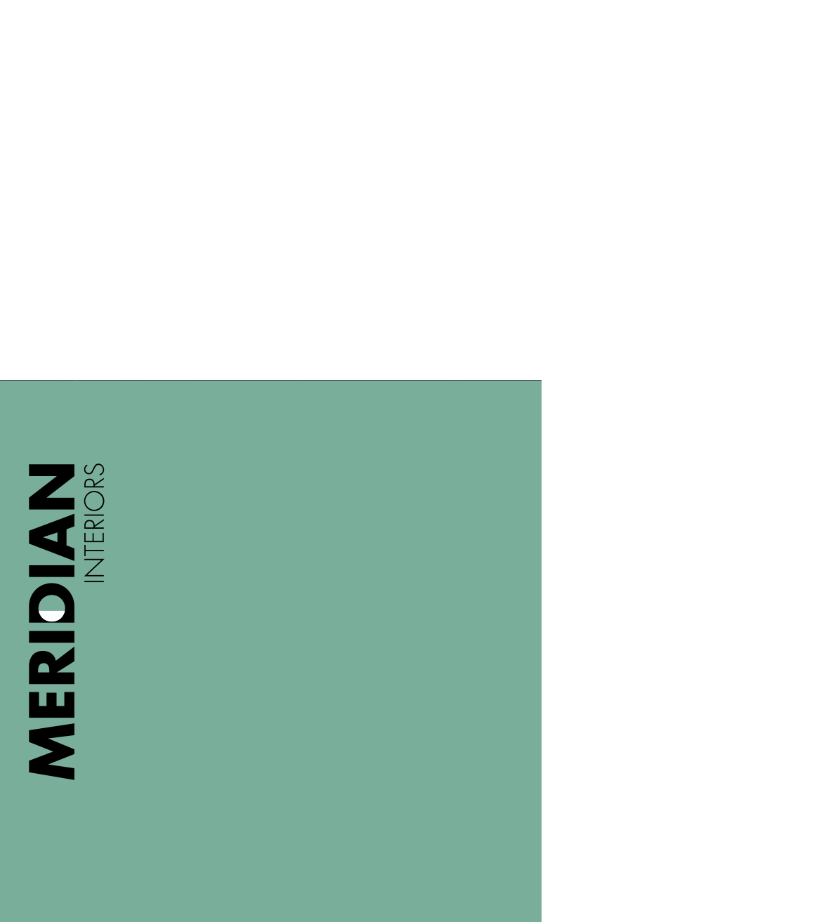 green box with meridian interiors logo